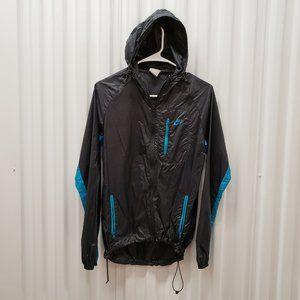 Nike Zip-Up Hoodie Windbreaker Jacket Black Sz M